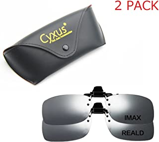 Cyxus 3D Clip-on Glasses for TV/Cinema/Movie Eyewear (RealD & IMAX 2 Pack)