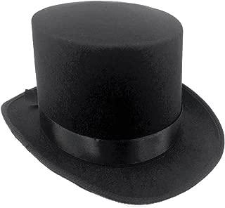 Brand Fantastic Black Top Hat Great Quality Hard Felt top Hat