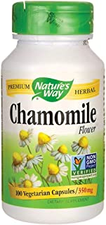 Natures Way Chamomile Flowers 350 mg Capsules - 100 ea, 6-Pack