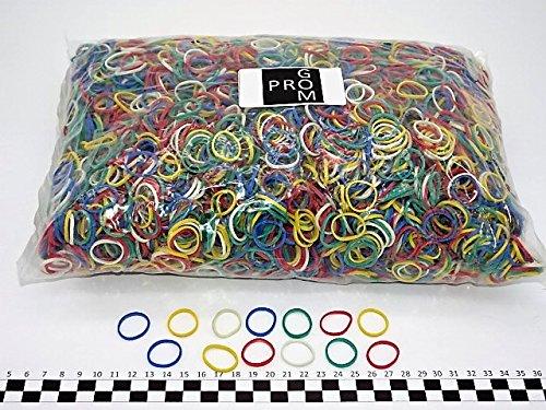 Progom - Gummibänder - 25(Ø16)mm x 1.7mm - Bunt gemischt - (rot, grün, blau, weiß, gelb) - 1 kg beutel