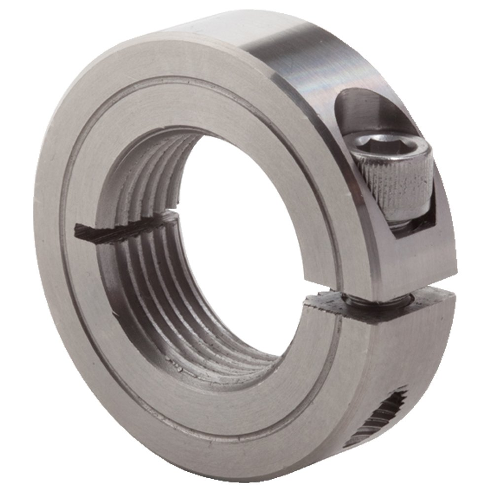Climax Metal ISTC-025-28-S T303 Stainless Steel One-Piece Threaded Clamping Collar With 4-40 x 3//8 Set Screw 1//4 Bore Size 11//16 OD