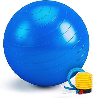 Switory Balón de Ejercicio Anti-explosión, Pelota de Pilates 55cm/65cm/75cm Fitness Yoga Pelota Estabilizador de Balón de Equilibrio Resistente con Bomba rápida para Core Force