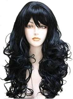 Wigbuy Hair Wigs Wavy Curly 24inche Long Hair for Women (1B)