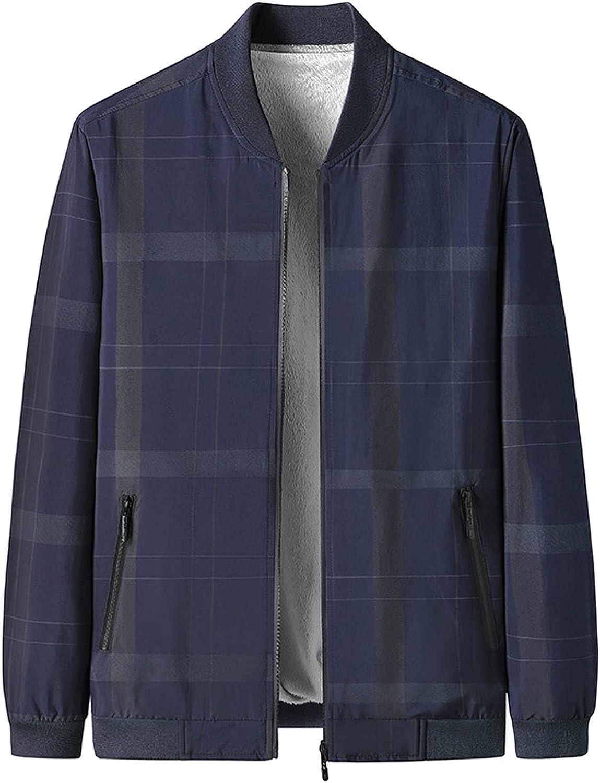 FORUU Bomber Jacket Men 2021 Winter Sports Flight Jacket Outdoor Zipper Stand Collar Jacket With Pockets Track Jacket