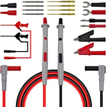 Blesiya 20 in 1 Electronic Test Leads Kit, Digital Multimeter Leads with Alligator Clips, Replaceable Probes Tips Accessor...