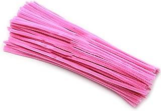 Rimobul Creative Arts Chenille Stem Class Pack,6 mm x 12 Inch, Pack of 100 (Pink)