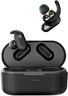 SoundPEATS True Wireless Earbuds,Truengine2 Bluetooth 5.0 Wireless Headphone with Dual Dynamic Drivers & Built-in Mic,IPX5...
