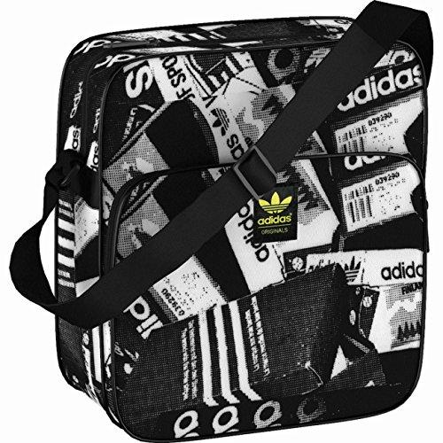 adidas, Borsa a Tracolla Sir Bag Photo, Nero (Multicolor/Black/White), 28 x 10 x 30 cm, 12,1 Litri