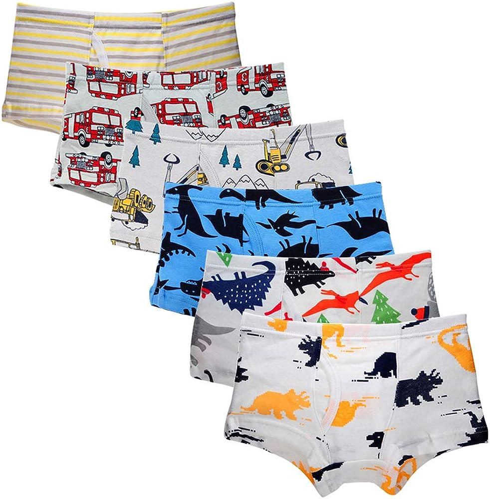 Colorado Springs Mall Bossail Ranking TOP20 2-7 Years Kids Soft Underwear 6-Pack Cotton Toddler Litt