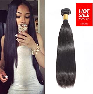 Brazilian Straight Remy Human Hair 1 Bundle 16 inches Unprocessed Brazilian Virgin Hair Natural Color(16