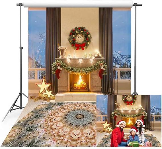 150 X 220 Cm Weihnachtshintergrund Für Den Innenbereich Kamin Teppich Fotografie Hintergrund Für Weihnachten Familie Party
