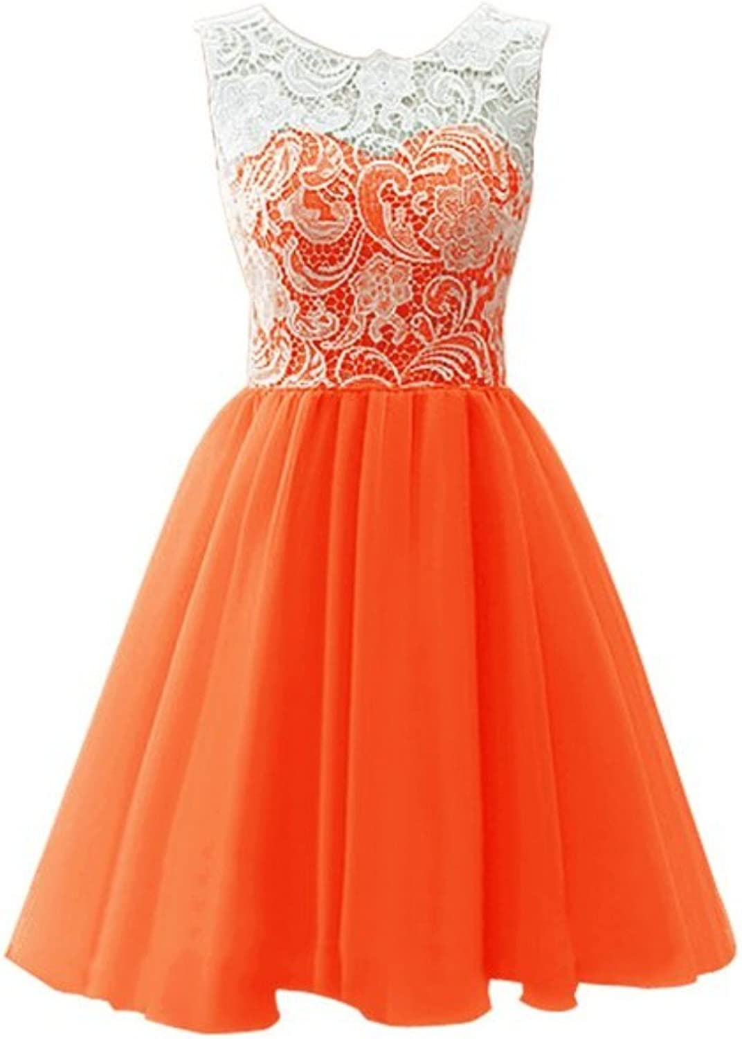 Fanciest Women's 2016 Tulle Lace Prom Dresses Short Homecoming Dress