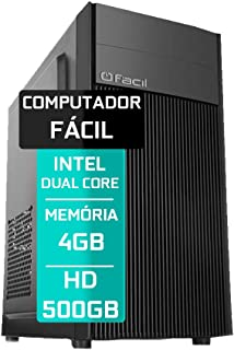 Computador Fácil Intel Pentium Dual Core 4GB DDR3 HD 500GB