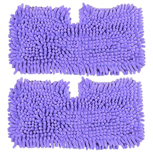 SPARES2GO Coral Cover Pocket Pads voor Shark S2901 S3455 S3501 S3502 S3601 S3701 S3901 Stoomreiniger Mop (Pak van 2, Paars)