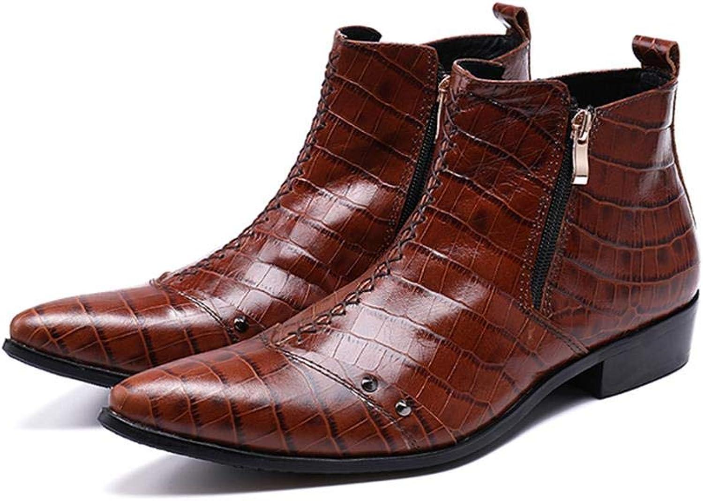 Brown Booties Warm Boots Winter Men's Boots