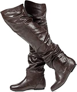9a85512d40d RF ROOM OF FASHION Women s Stretchy Over The Knee Slouchy Boots