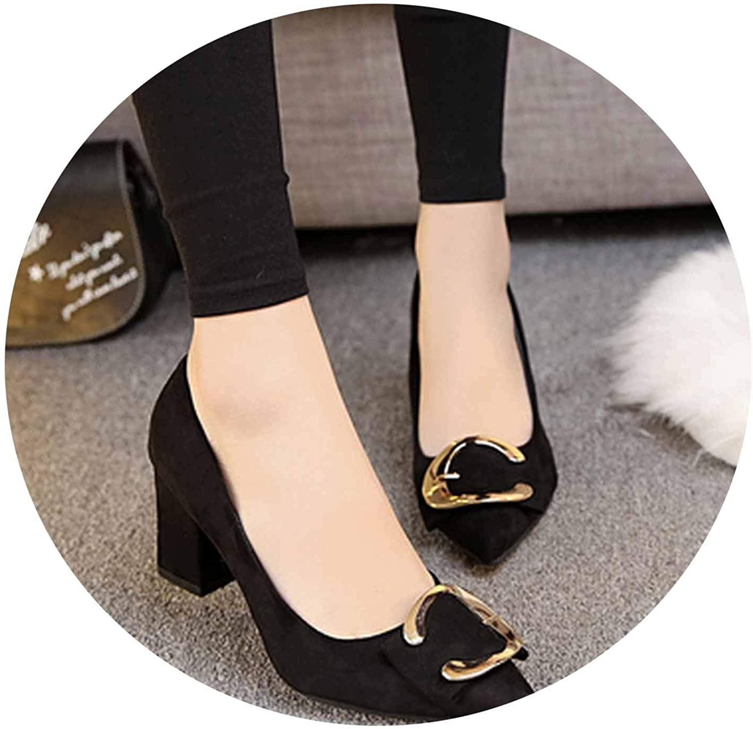Women Faux Suede high Heel Pumps Slip on high Heel shoes Cool shoes a770