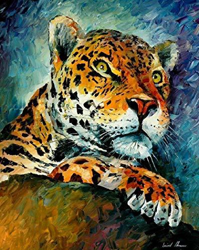 Iyyuor Eastern Leopard Full Diamond Malerei Kreuzstich-Kits Kunst Hochwertige Kunstwerke 3D Paint by Diamonds Weihnachtsdekoration Geschenke für Familien geeignet (Quadrat 30x40cm)