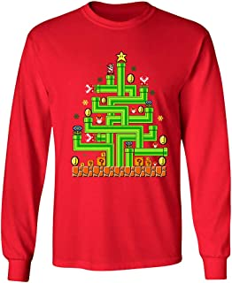 Gamer Tree Men's Funny Ugly Christmas Sweater Video Game Themed Longsleeve Shirts TEP-645