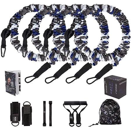 Sunshine smile fitnessband Set,Expander b/änder widerstandsband Set,Resistance Bands,fitnessband mit Griff,Tubes fitnessb/änder,Fitness gummib/änder Set,trainingsb/änder,widerstandsb/änder-stretchband