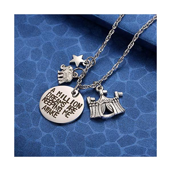 MIXJOY The Greatest Showman Inspired a Million Dreams are Keeping Me Awake Necklace 4