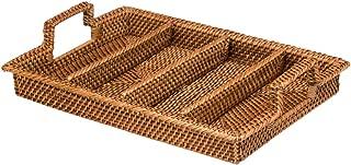 Best rattan flatware tray Reviews