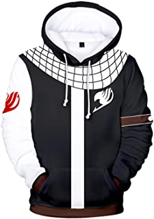 UU-Style Halloween Fairy Tail Natsu Dragneel Hoodies Sweatshirt Cosplay Costume 3D Printed Jacket Unisex