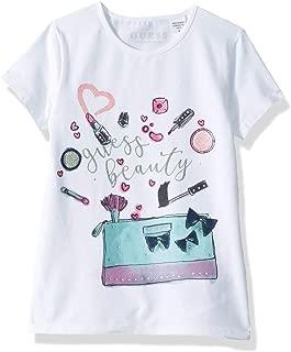 Guess Little Girls' Short Sleeve Beauty Graphic T-Shirt