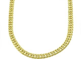 Mens Thick Tight Link Yellow Gold Finish Miami Cuban Link Chain/Bracelet Box Lock JayZ 9mm