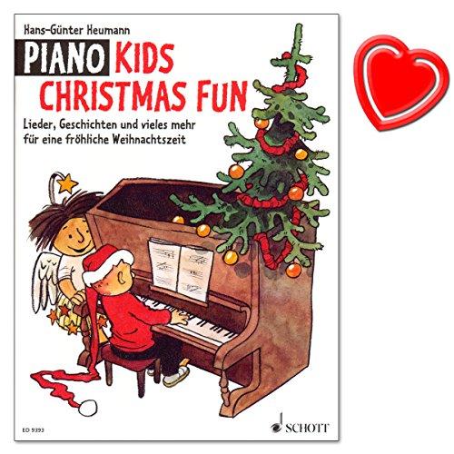 Piano Kids Christmas Fun - liedjes, verhalen en nog veel meer voor een vrolijke kersttijd - een selectie van mooie oude en moderne kerstliedjes - met kleurrijke hartvormige notenklem