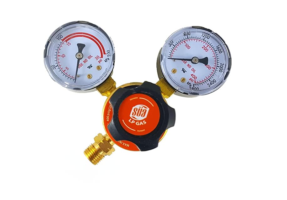 SüA - Propane Regulator Welding Gas Gauges - CGA-510 - Rear Connector - LDP series
