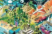 木製パズル千個の漫画シリーズ500個大人と子供の癒しのパズルゲーム300ピース - 誕生日プレゼントとホリデーギフト BBJOZ (Size : 300 pcs)