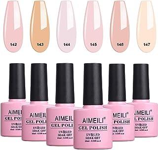 AIMEILI Builder Base Gel Quick Extension Nail Enhancement Reinforce Lacquer Soak Off UV LED Multicolour/Mix Colour/Combo C...