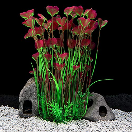 QUMY Large Aquarium Plants Artificial Plastic Fish Tank...