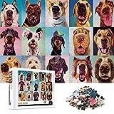Puzzle 1000 Piezas, Puzzle 1000 Piezas para Adultos, Regalo de Juguetes de Rompecabezas para Adultos, Juego Familiar(Nariz de Perro)
