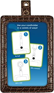 Cosco MyID Badge Holder for Key Cards and ID Cards, Crocodile Brown, 4 x 2.5 Inches (075020)