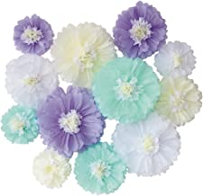 Mybbshower Lavender Mint Tissue Paper Flower Under The Sea Party Supplies Girl Birthday Party Decoration Pack of 12