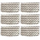 ANBOO 6Packs Dirt Grip Microfiber Pads Replacement for Shark Steam Mop S1000 S1000A S1000C S1000WM S1001C Vacuum Cleaners