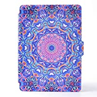Case Fit New Kindle 2016 6.0 Inch, FlipBird Flower Series Folio Stand Leather Cute Design Smart Cover with Auto Wake/Sleep Function for Girly Women Case for New Kindle 2016 6.0 Inch Flower