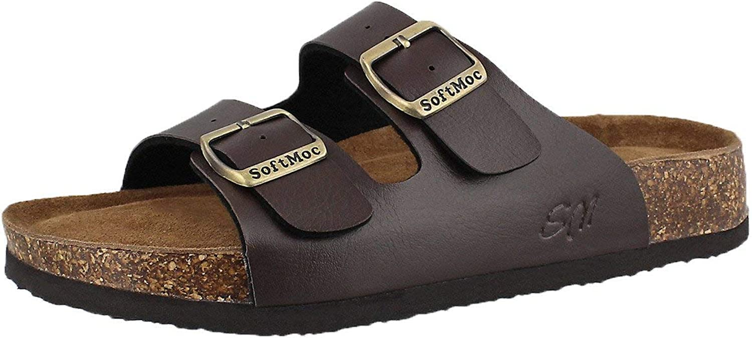 SoftMoc Women's Anna 5 PU Cork Footbed Slide Sandal