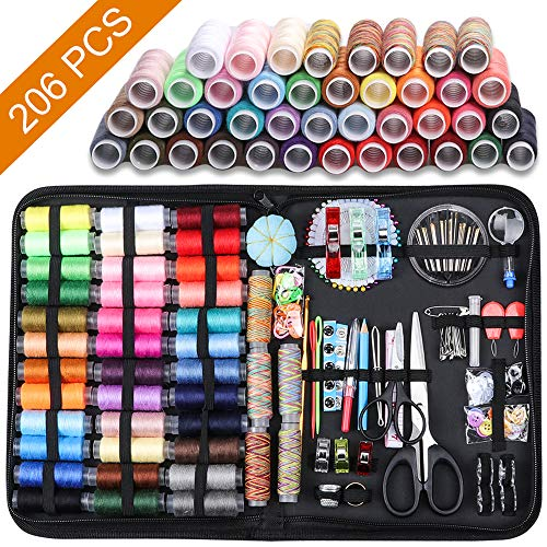 Large Sewing Kit 206 Pcs Premium Sewing Supplies AntiScratch Durable 600D Oxford Fabric Sewing Kits for Adults Sewing Kits Set Suitable for Traveller Emergency Beginner Kids Home and DIY