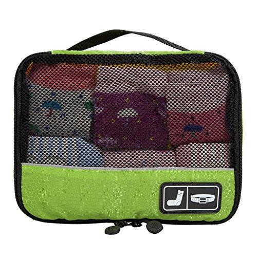 ECOSUSI Accessori da Viaggio Cubi Di Imballaggio Bagagli Organizzatore Piccoli Oggetti Intino Calze Cinture ?