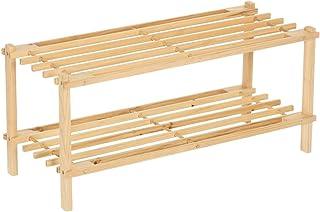 Zapatero 2 baldas madera abeto 64x26x2950 cm