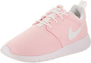 Nike Kids Roshe One (GS) Prism Pink/White Safety Orange Running Shoe 4.5 Kids US