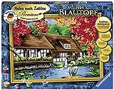 Ravensburger- Mühle Am Blautopf 28905-Dipingere con i Numeri, Macinino sul Vaso Blu Premium, Formato 40 x 30 cm, Multicolore, 28905