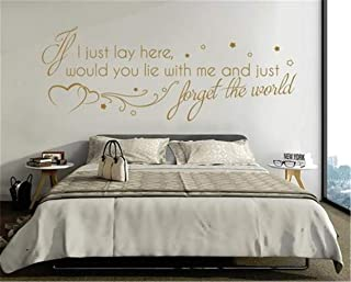 Marydecals Wall Quotes Decal Wall Stickers Art Decor If I just Lay here Would You Lie with me and just Forget The World
