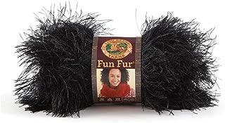 Lion Brand Yarn Lion Brand Fun Fur Yarn (153) Black