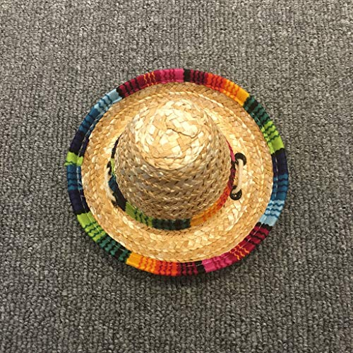 Disfraz de perro Sombrero perro mascota Sun-shading del sombrero del perro de Deportes del perro casero del sombrero del casquillo pequeño sombrero de paja sombrero de paja sombrero de Sun del arco ir