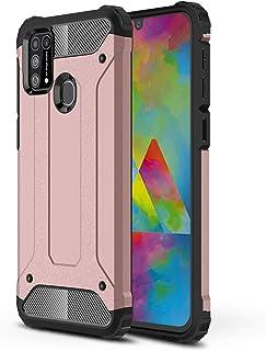 FanTings Funda para Samsung Galaxy M31, PC con TPU Funda Interna Suave, 2in1 Armadura Combinación A Prueba de Choques Heav...