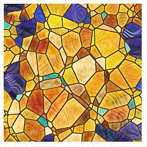 Película de Vidrio de guijarros Etiqueta de Ventana de privacidad esmerilada Adhesivo Decorativo Sin Pegamento Pegatinas de Ventana extraíbles (11.81 x 39.37nch) 1 Pieza.